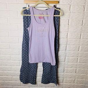 😊 Victoria's Secret Pajama Set Tank Pants Medium